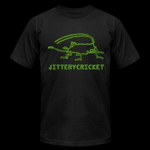 Men's JITTERYCRICKET Logo American Apparel Fitted T-Shirt - Men's Fine Jersey T-Shirt