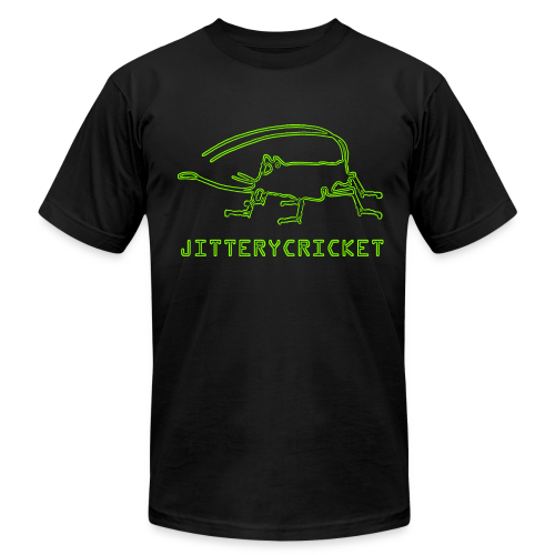 Men's JITTERYCRICKET Logo American Apparel Fitted T-Shirt - Men's  Jersey T-Shirt