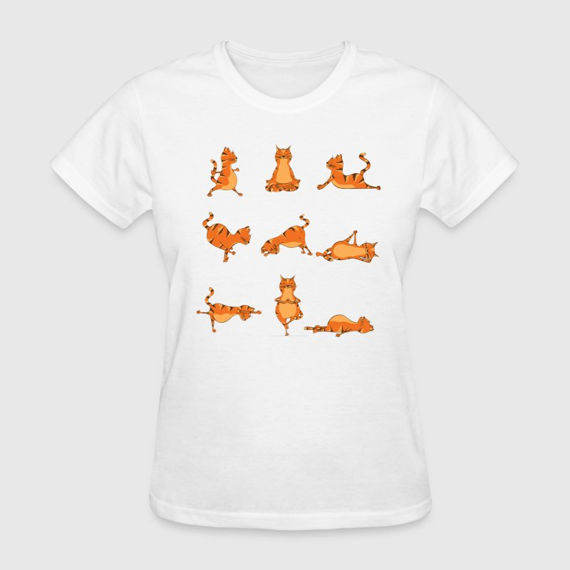Funny Cat Yoga Pose - Women's T-Shirt
