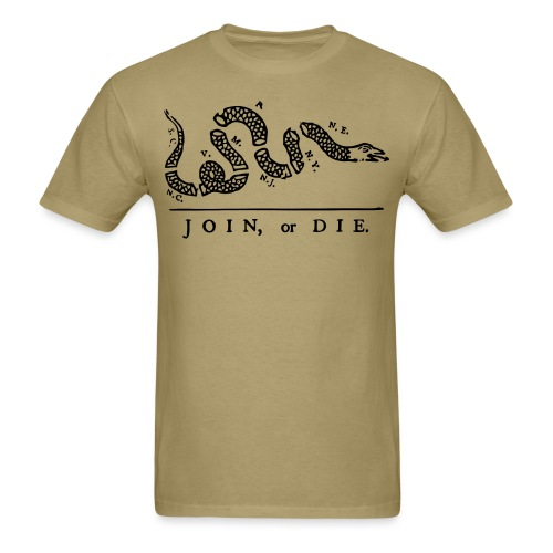 Join Or Die T-Shirt - Men's T-Shirt