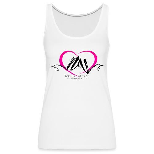 Nocturne Vapors Valentine's Ladies Sleeveless T-Shirt - Women's Premium Tank Top