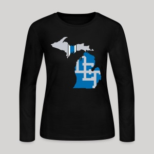 Lions Country - Michigan - Women's Long Sleeve Jersey T-Shirt