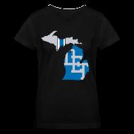 Women's T-Shirts ~ Women's V-Neck T-Shirt ~ Lions Country - Michigan
