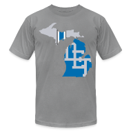 T-Shirts ~ Men's T-Shirt by American Apparel ~ Lions Country - Michigan