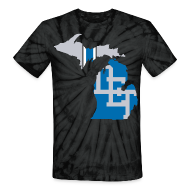 T-Shirts ~ Unisex Tie Dye T-Shirt ~ Lions Country - Michigan