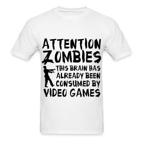 Attention Zombies - Men's T-Shirt