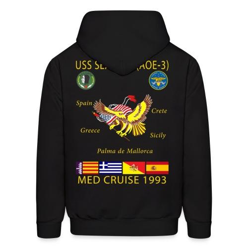 USS SEATTLE 1993 CRUISE HOODIE - Men's Hoodie
