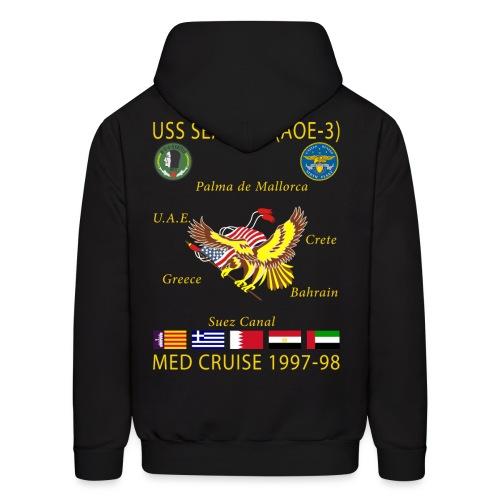 USS SEATTLE 1997-98 CRUISE HOODIE - Men's Hoodie