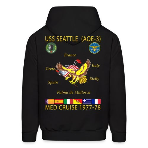 USS SEATTLE 1977-78 CRUISE HOODIE - Men's Hoodie