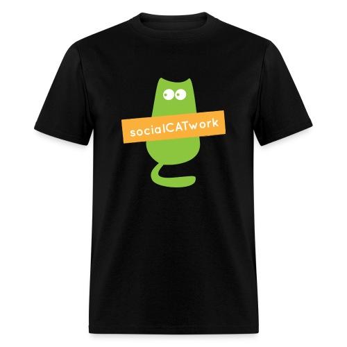 socialCATwork support unisex - Men's T-Shirt