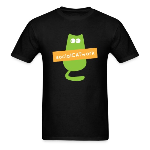 socialCATwork support unisex - Men's T-Shirt