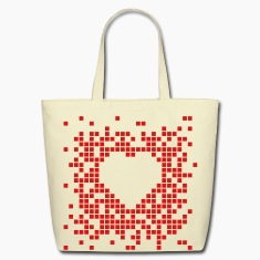 Pixel Heart Bags & backpacks