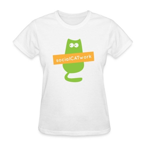 socialCATwork support womens - Women's T-Shirt