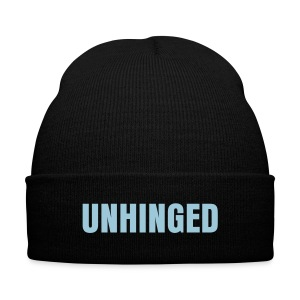Unhinged Beanie - Knit Cap with Cuff Print