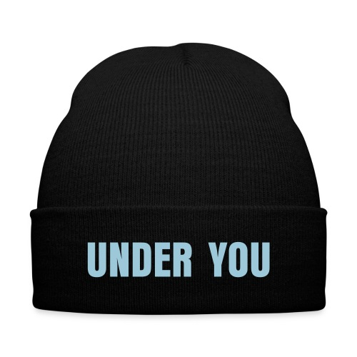 Under You Beanie - Knit Cap with Cuff Print