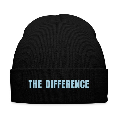 The Difference Beanie - Knit Cap with Cuff Print