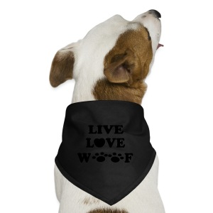 Live Love Woof Bandana White - Dog Bandana