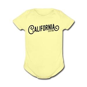 California - Short Sleeve Baby Bodysuit