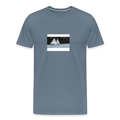 Racing stripes on Steel Blue - Men's Premium T-Shirt