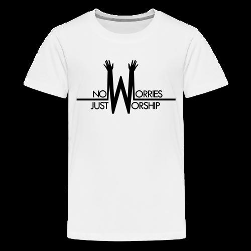 Youth T-shirt - Black on White - Kids' Premium T-Shirt