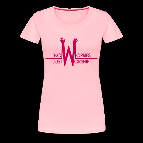 Women's T-shirt - Pink on Pink - Women's Premium T-Shirt