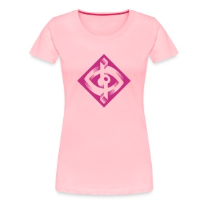Optik-ILL Pink Eye - Women's Premium T-Shirt