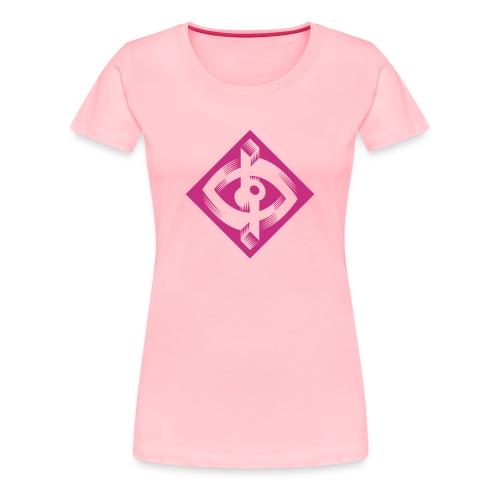 Optik-ILL Pink Eye - Women's Premium T-Shirt