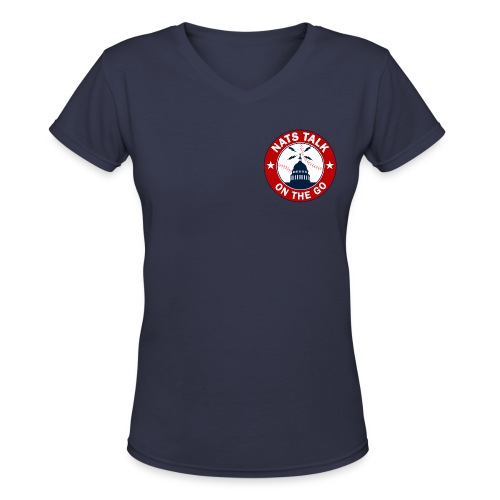 Official NTOTG logo v-neck (Navy - women) - Women's V-Neck T-Shirt