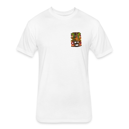 Indigenous Mask - Fitted Cotton/Poly T-Shirt by Next Level