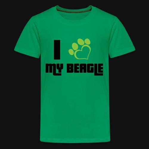 PetCada - I Love My Beagle - Kids' Premium T-Shirt