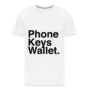 Phone Keys Wallet  - Men's Premium T-Shirt
