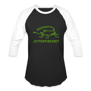 Men's JITTERYCRICKET Logo Baseball T-Shirt - Baseball T-Shirt
