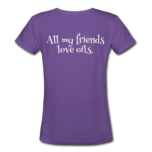2-sided OG All my friends love oils V-neck - Women's V-Neck T-Shirt