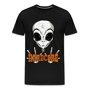 Tshirt HardCore Music Alien - Men's Premium T-Shirt