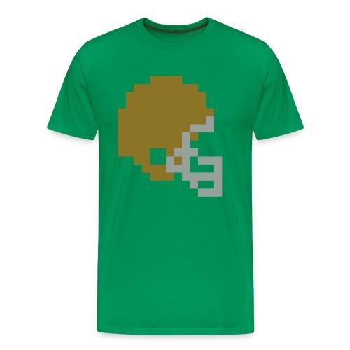 Tecmo Bowl Irish Helmet t-shirt - Men's Premium T-Shirt