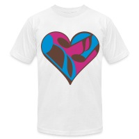 Music Note Heart - Men's T-Shirt by American Apparel