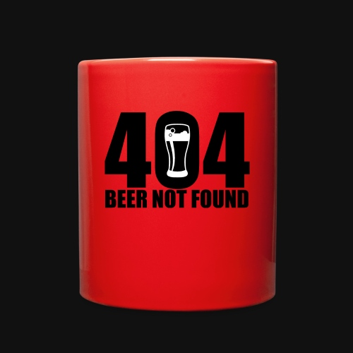 404 Beer Not Found Mug - Full Color Mug