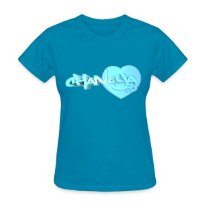 Blox3dnyc.com Heart2 design for Chanaya Unicorn - Women's T-Shirt