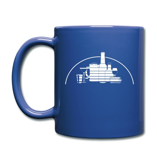 Bottle Castle Mug! (white logo) - Full Color Mug