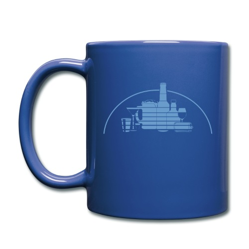 Bottle Castle Mug! (blue logo) - Full Color Mug