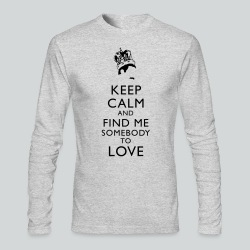 Freddie Keep Calm - Men's Long Sleeve T-Shirt by Next Level