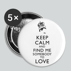 Freddie Keep Calm - Large Buttons