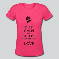 Freddie Keep Calm - Women's V-Neck T-Shirt