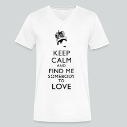 Freddie Keep Calm - Men's V-Neck T-Shirt by Canvas