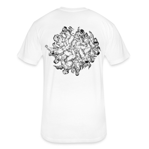 What Goes Around - White - Fitted Cotton/Poly T-Shirt by Next Level