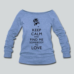 Freddie Keep Calm - Women's Wideneck Sweatshirt