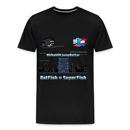 BatFish vs. SuperFish Men's T-Shirt - Men's Premium T-Shirt