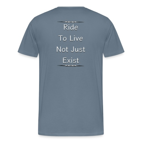 motorcycles - ride to live - Men's Premium T-Shirt