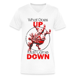 Gerard Pfeiffer request V Neck Judo What Comes Up - Men's V-Neck T-Shirt by Canvas