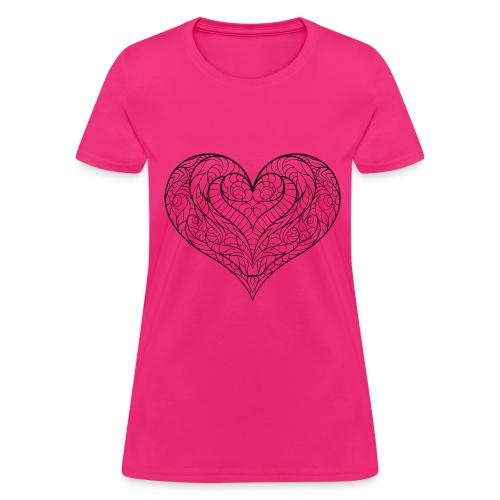 Dicebird's Heart slice Fushia - Women's T-Shirt